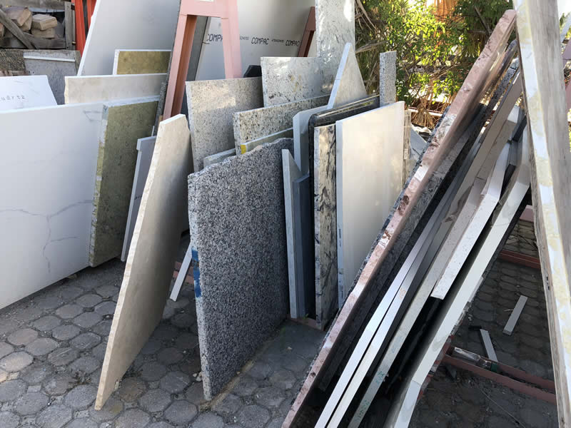 Granite, Quartz and Marble Remnants prices, colors and sizes
